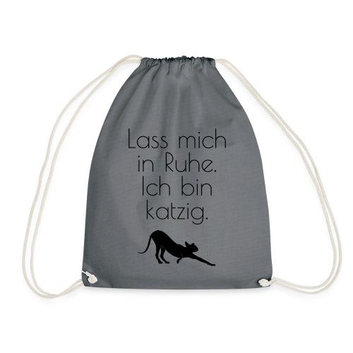 Zicken-Humor mit schwarzer Katze - Turnbeutel