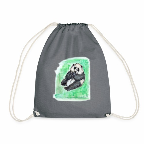 Scruffy panda - Drawstring Bag