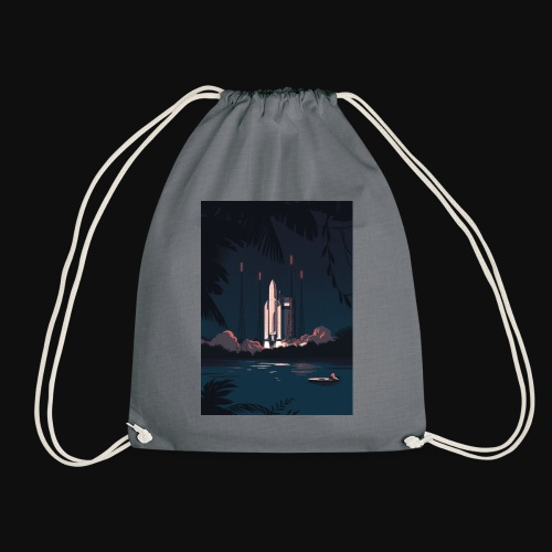 Ariane 5 - Launching By Tom Haugomat - Drawstring Bag