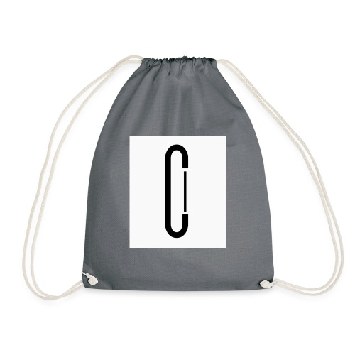 Cw0 Official Logo Slipper Black White - Drawstring Bag