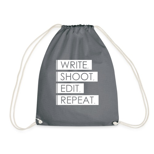 Write, Shoot, Edit, Repeat - Turnbeutel