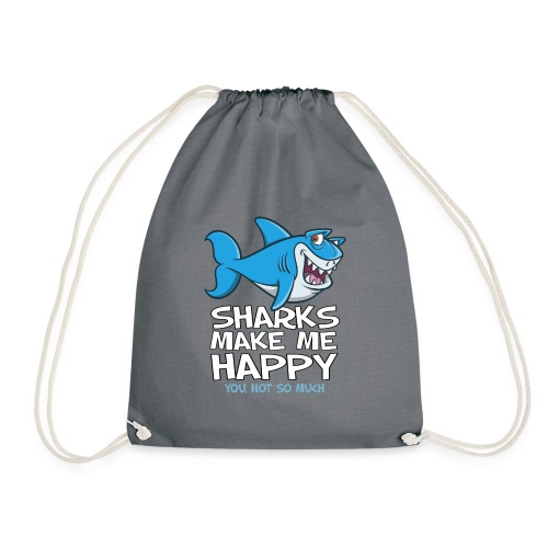 Sharks make me happy - Haifisch - Turnbeutel