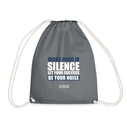 work hard silence - Turnbeutel