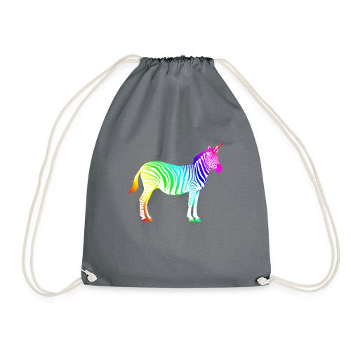 Zebra Einhorn Unicorn Regenbogen Zauber Magie - Drawstring Bag
