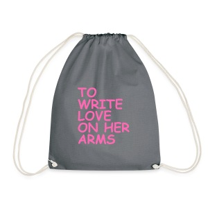 to write love on her arms hot pink - Turnbeutel