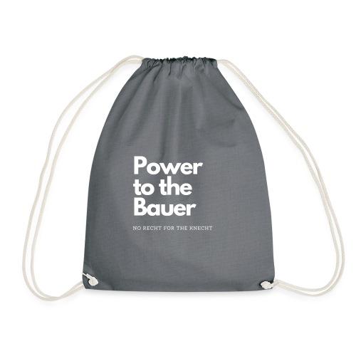 Power to the Bauer - Cooles Design für´s Land - Turnbeutel