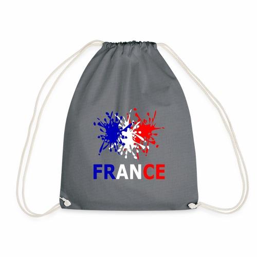 France - red white blue - Drawstring Bag