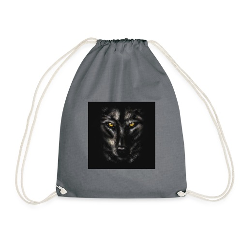 94320755 myo desenho retrato de um lobo negro sobr - Mochila saco
