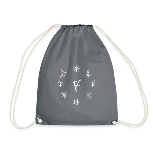 Círculo de runas blanco - Mochila saco