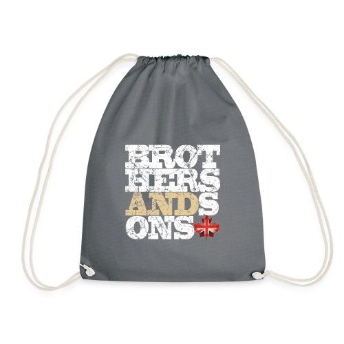 Brothers and Sons logo - light design - Drawstring Bag