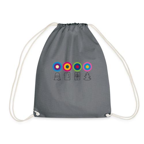psychedelische Weihnachten x-mas Christmas - Drawstring Bag
