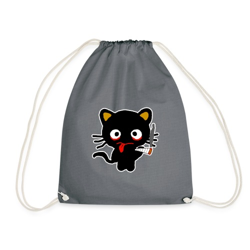 Pothead Cat Cannabis Smoking Weed, legalize it - Drawstring Bag