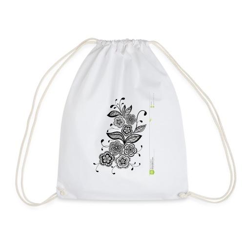 diseño de flores - Mochila saco