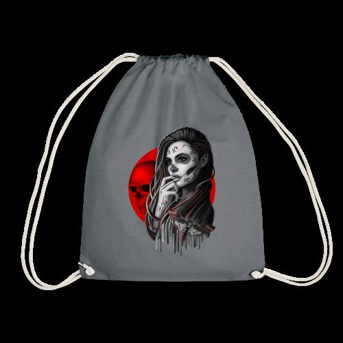 Sugar Skull Girl Hawk-Moth - Drawstring Bag