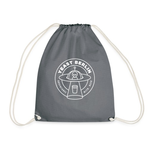 Yeast Berlin Original White Logo - Drawstring Bag