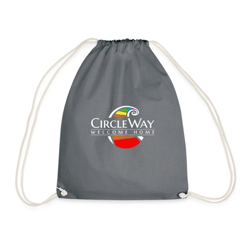 Circleway Welcome Home Logo – weiß - Turnbeutel