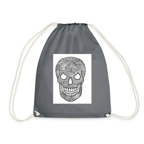 Zentangle Skull 1 - Gymtas