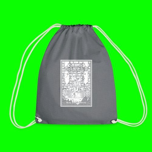 king of all goblins white on black - Drawstring Bag