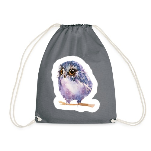 Nice Purple owl - Drawstring Bag