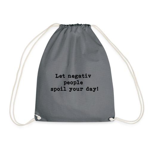 NegativQuotes negativ people - black - Turnbeutel