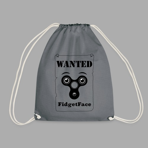 Fidget Spinner Face Wanted - Drawstring Bag