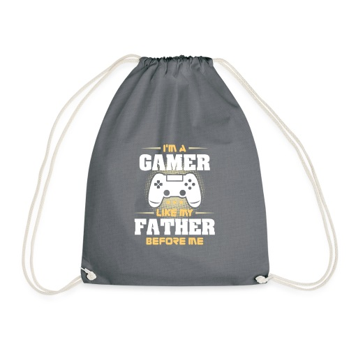 Gamer wie mein Vater Zocker Design & Geschenk - Turnbeutel