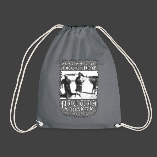 PICTFREE1 - BW - Drawstring Bag