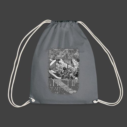 PICTFREE2b - BLACK & WHITE - Drawstring Bag