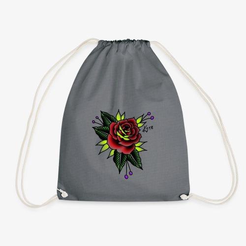 Traditional rose - Drawstring Bag