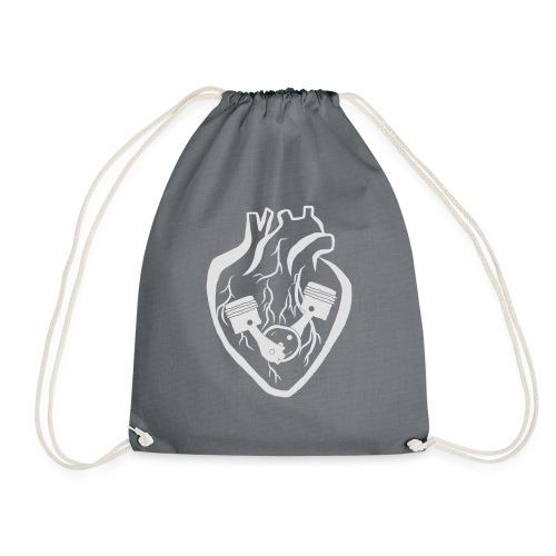 My Heart Is My Engine - Drawstring Bag