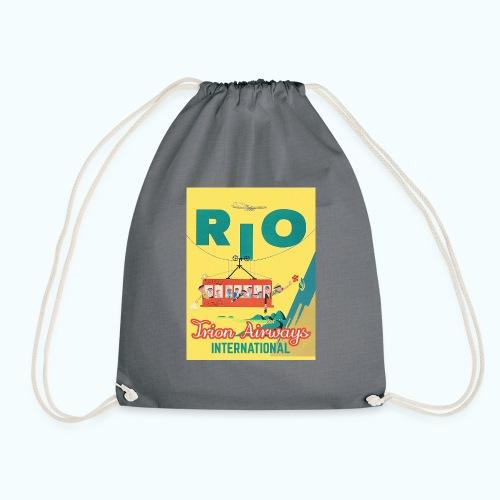Brasilien Vintage Reise Poster - Drawstring Bag
