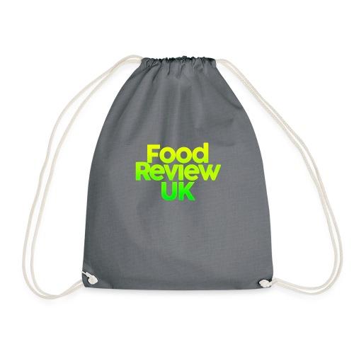 Food Review UK Logo Gradient | Green & Yellow - Drawstring Bag