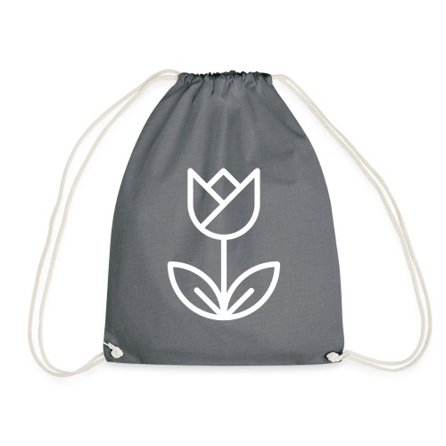 Tulip white png - Drawstring Bag