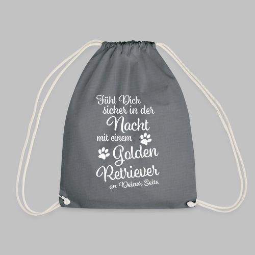 Fühl Dich sicher in der Nacht - Golden Retriever - Turnbeutel