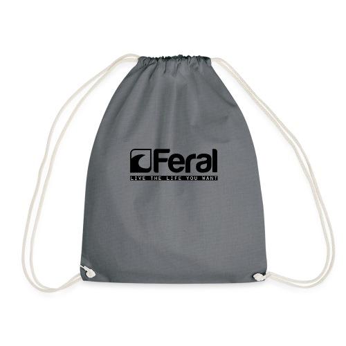 Feral Surf - Live the Life - Black - Drawstring Bag