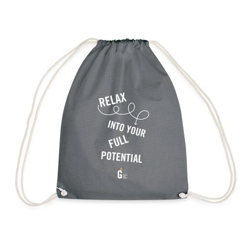 Relax into your full potential I v2 - Drawstring Bag