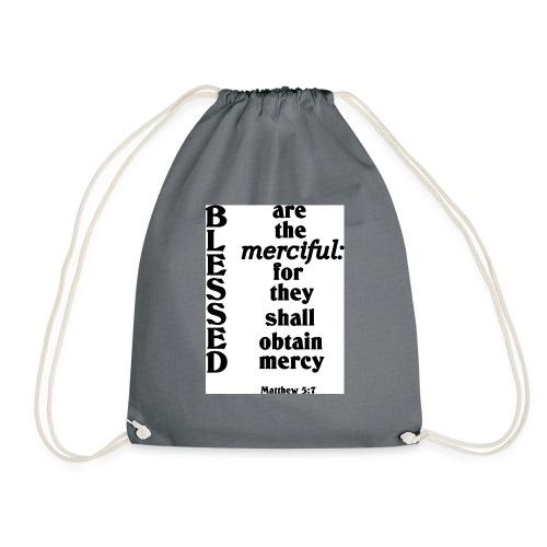 Matthew 5 7 - Drawstring Bag