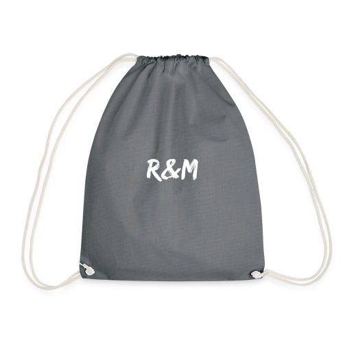 R&M Large Logo tshirt black - Drawstring Bag