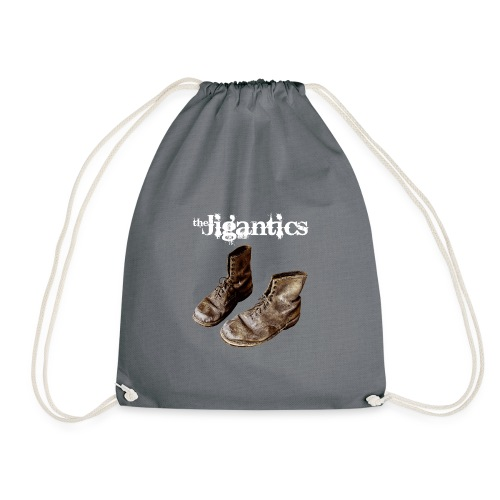 The Jigantics boot logo - white - Drawstring Bag