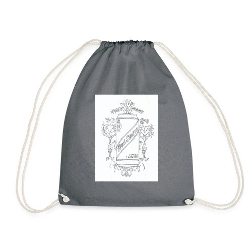Red Stripe - Drawstring Bag