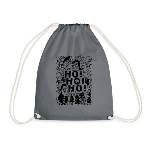 Ho! Ho! Ho! , Style drôle dessinés à la main Noël - Sac de sport léger