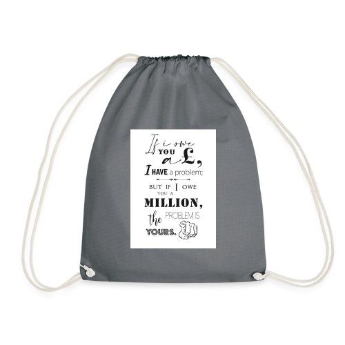 Debt Quotes - Drawstring Bag