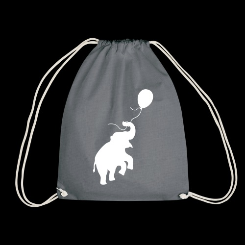 Elefant mit Ballon - Turnbeutel