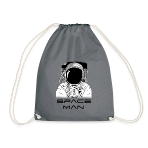 Space man black - Drawstring Bag