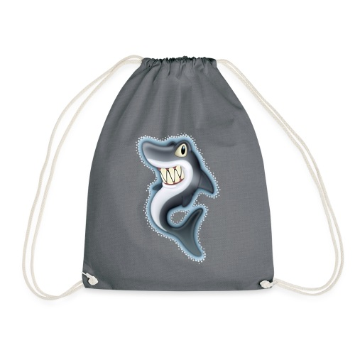 Cartoon Shark - Drawstring Bag