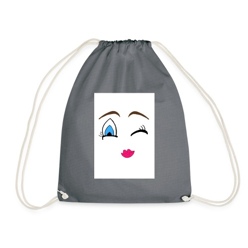 Winky emoji jpg - Drawstring Bag
