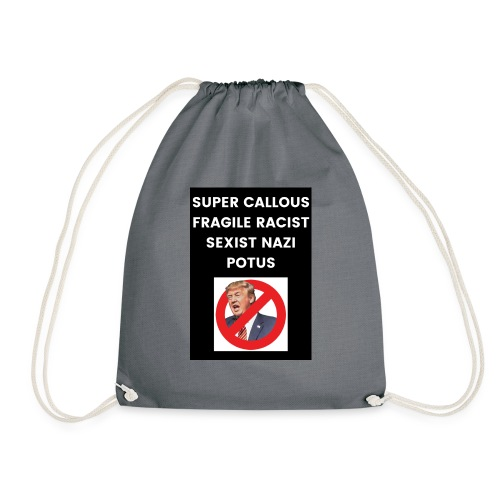 Poppins Against Trump - Drawstring Bag