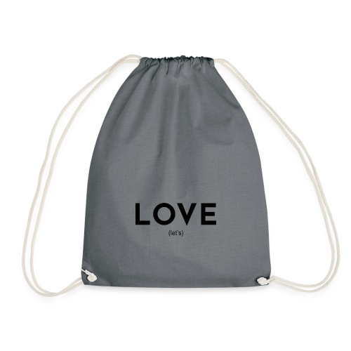 love (let's) - Drawstring Bag