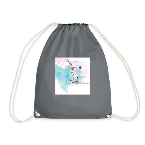 Skiing - Drawstring Bag