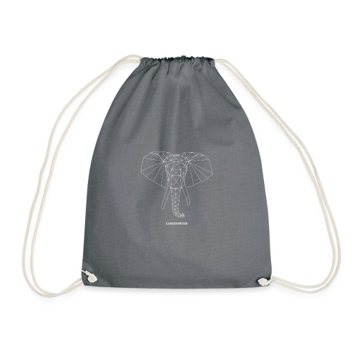 Loxodontae Asymmetric Elephant Triangles - Drawstring Bag